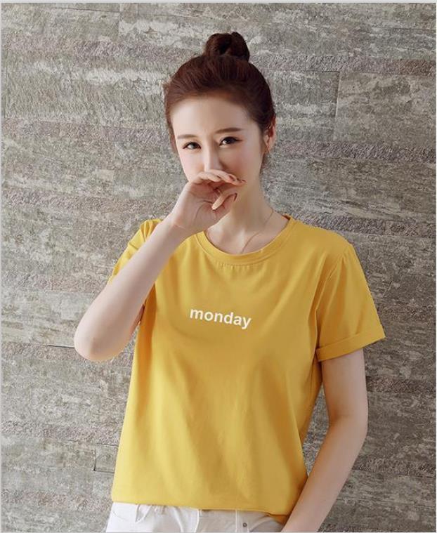 Women T shirt Hot Sale Fashion Ladies Cotton Tshirt Short Sleeve Femme hot sale Style Mode Hot Classic Cotton