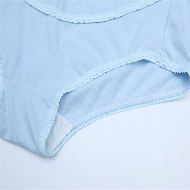 M-XXXL Pregnancy Maternity Clothes Cotton Women Pregnant Smile Printed High Waist Underwear Soft Care Underwear Clothes S14#F (11)