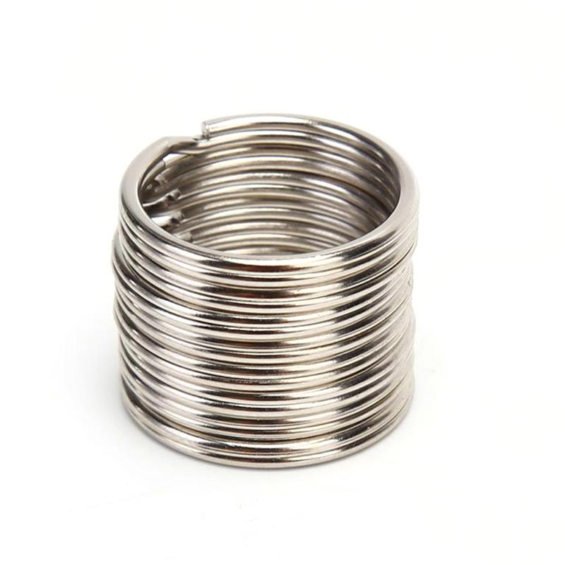 10//20pc Metal Loop Key Holder Split Ring Hoop Keyring Keychain Accessory 30mm