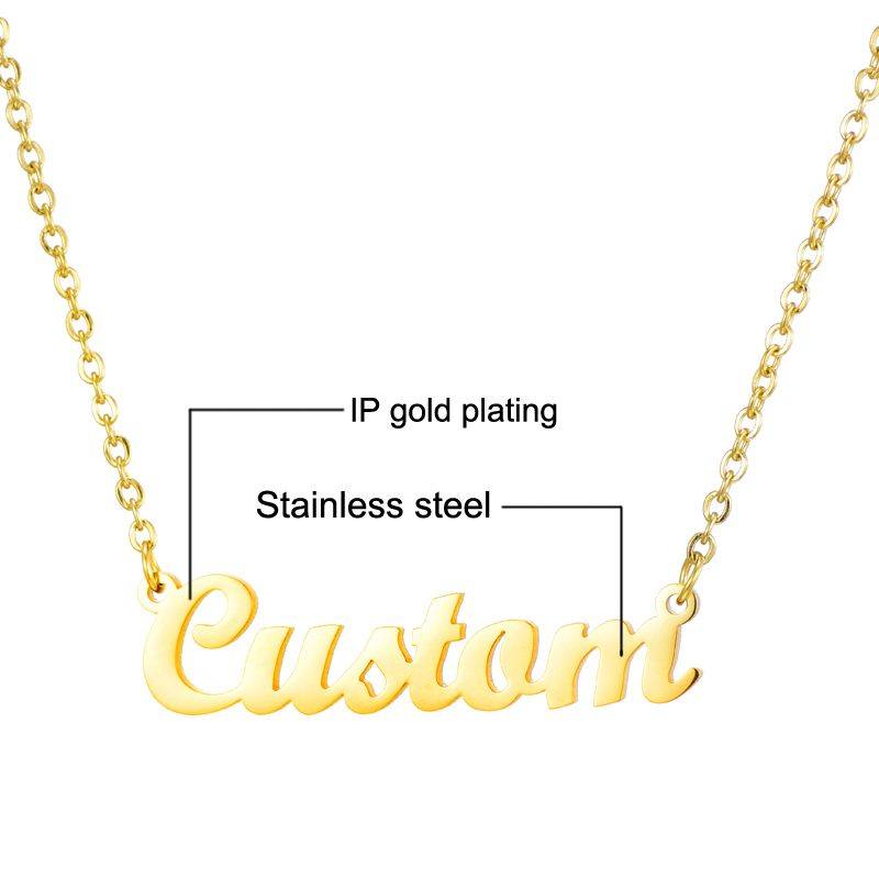 Collana personalizzata personalizzata della targhetta della targhetta della collana di nome su misura del pendente il regalo fatto a mano dei gioielli delle donne