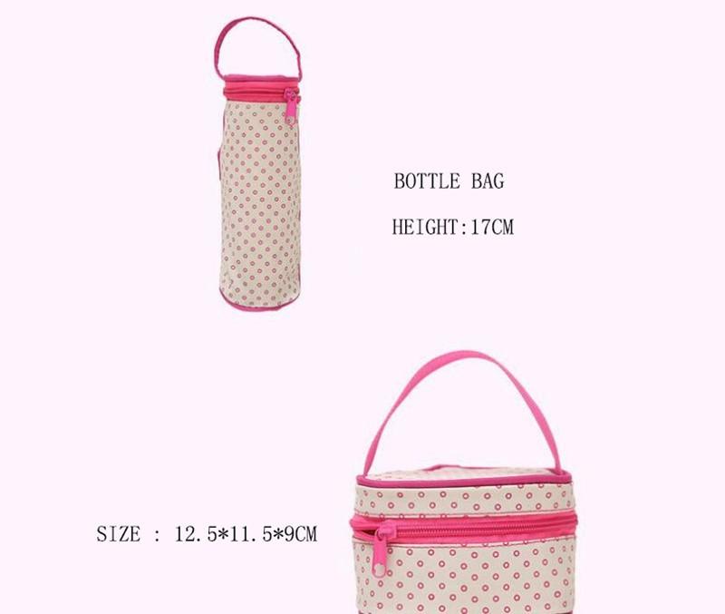 CROAL CHERIE 381830cm5pcs Baby Diaper Bag Sets changing Nappy Bag For Mom Multifunction Stroller Tote Bag Organizer (7)