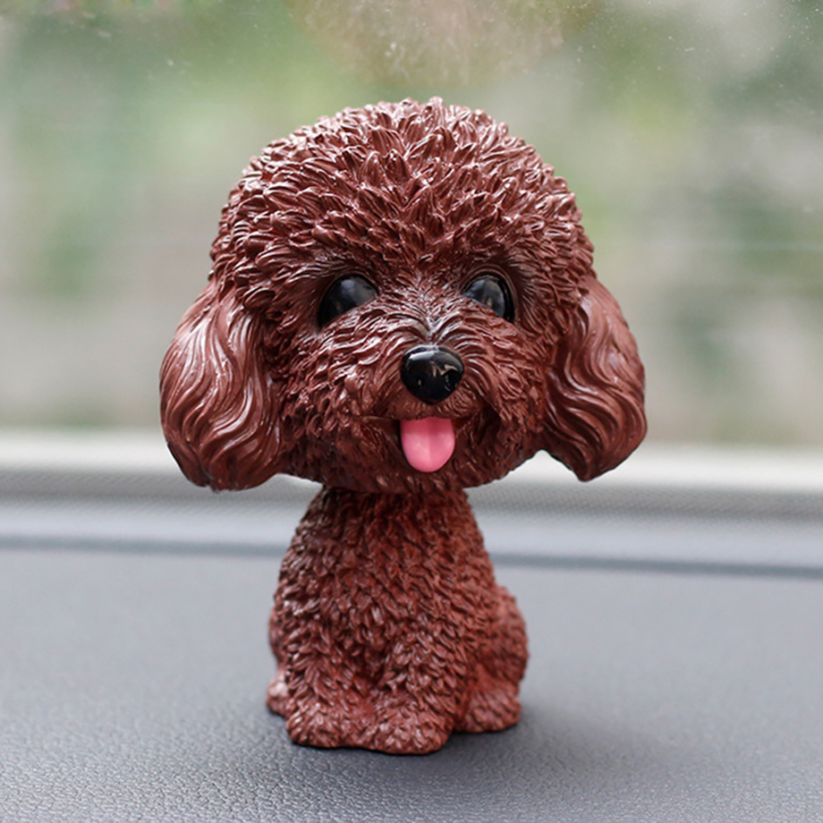 Bobblehead Dog Nodding Puppy Toys Lovely Car Dashboard Decor Toy Shaking Head Dolls Auto interior Accessory Cute Christmas Gifts (11)