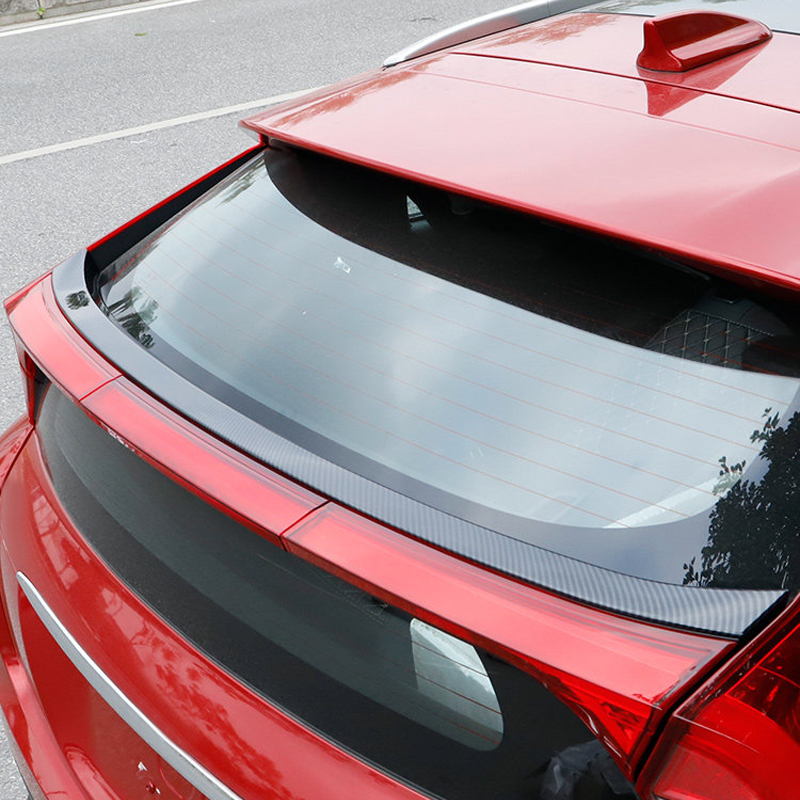 Revolver Universal Car Mini Spoiler Wing Creatiee Auto Car Tail Wing Auto Carbon Fiber Texture Decoration 6.7 Inch D