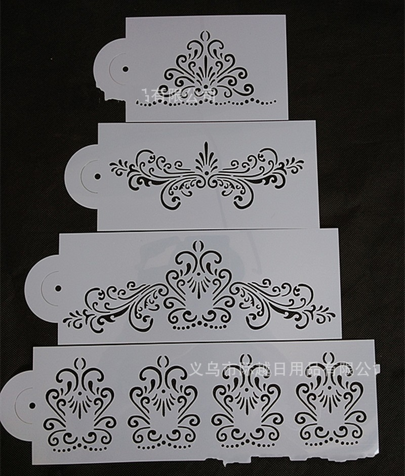 9Pcs Plastic Handmade Paper Card Wedding Decor Embossing Folder Template Scrapbooking Stamps Photo Album Decor DIY Craft Paper Cards Embossing Painting Template Layering Stencils Fondant Cake Mould