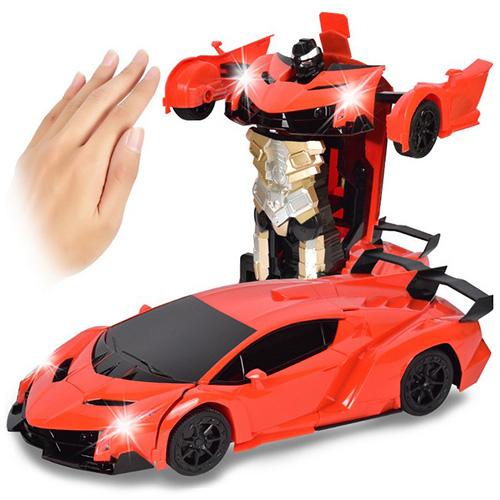 Heißer Verkauf 2 In 1 Geste Sensing Robot One Button Transformation Fernbedienung Auto Spielzeug 1: 12 RC Lkw Drift Spielzeug Geschenk für Kinder
