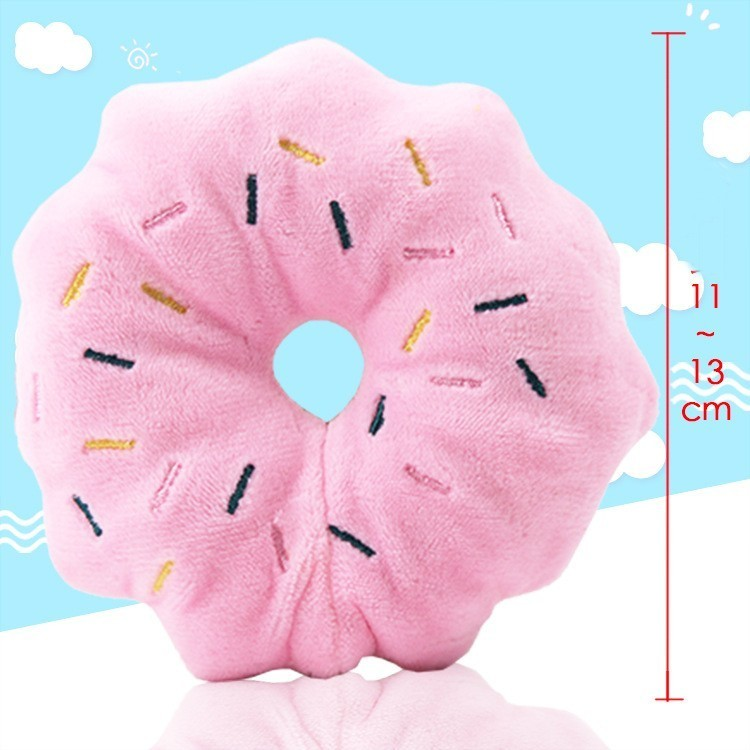 Hot sale Lovely Donuts Pet Dog Toy Puppy Cat Squeaker Sound Toy Cute Chew Toys For Dogs Christmas Sound Toys Dog Supplies Wholesale