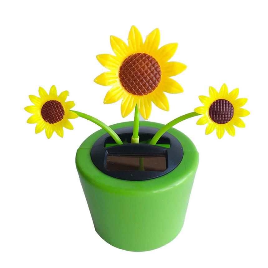 Solarbetriebene Blume Insekt Tanzen Puppe Flip Flap Auto Dekoration Wohnkultur