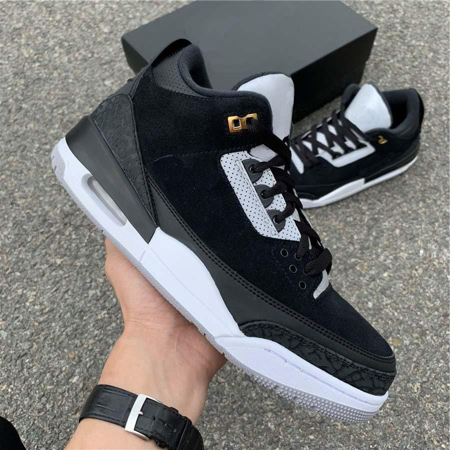 JTH Tinker Basketball Shoes 3s Designer Brand 3M Mens Original Suede Fashion Athletic Trainers Sneaker With Box Size 40-47