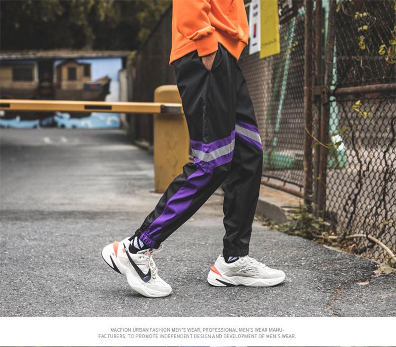 Loose Hip Hop Cargo Pants Men Camouflage Patchwork Harem Mens Trousers Streetwear (53)