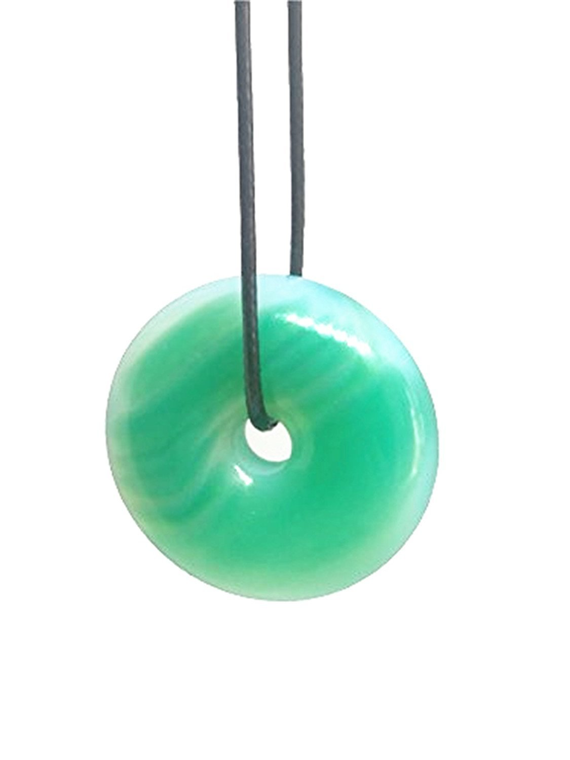 Natural Green Jade Round Gemstone Sweater Chain Pendant Necklace Jewelry Gift Wholesale