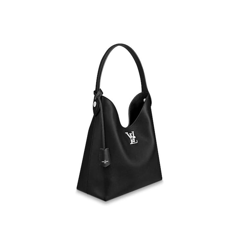 LouisVuitton/Louis Vuitton handbag LOCKME HOBO handbag soft calf leather shoulder strap handbag M52776