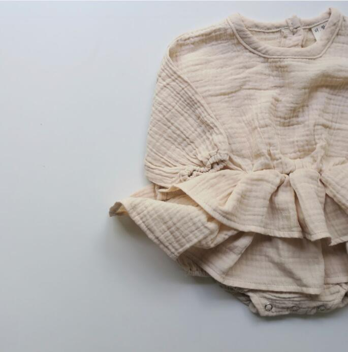 Autumn Cotton Bodysuits Long Sleeves Climbing Suits Children Pink Bodysuit Baby Girl Clothesno Hair Accessories  Q190520