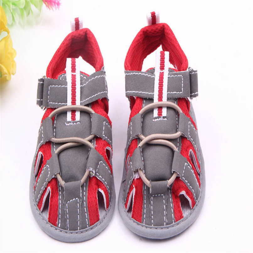 Summer Baby Shoes Fashion Newborn Toddler Infant Baby Boys Girls Color Splice Canvas Soft Sole Anti-slip Sandals Shoes M8Y16 (3)