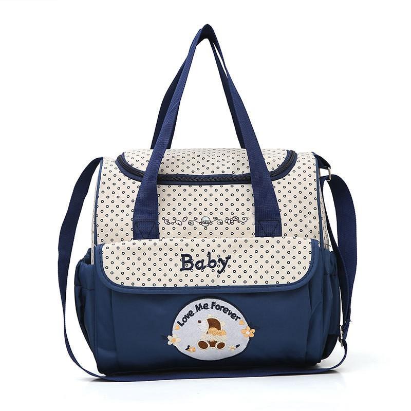 CROAL CHERIE 381830cm5pcs Baby Diaper Bag Sets changing Nappy Bag For Mom Multifunction Stroller Tote Bag Organizer (10)