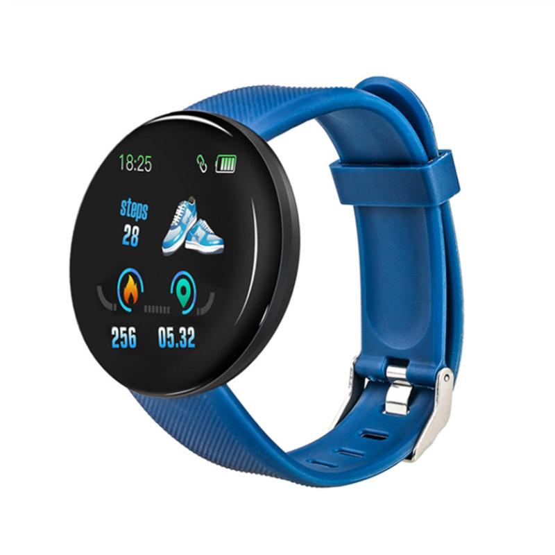 D18 SmartWatch Men Waterproof Sleep Tracker Heart Rate Tracke Smartwatch Blood Pressure Blood Oxygen Sports Watch PK D13