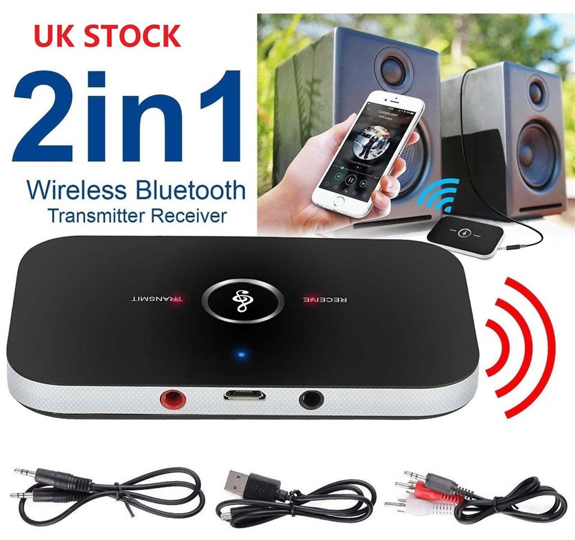 2in1 Wireless Bluetooth Transmitter Receiver 3.5MM A2DP Stereo Audio Adapter USA
