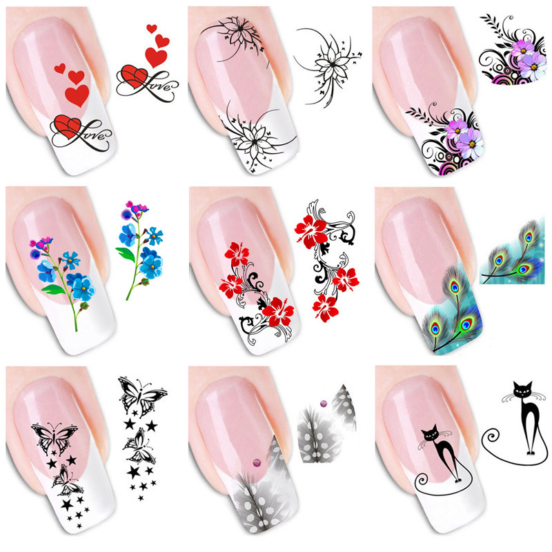 Wholesale Nail Sticker Fingernail Design Decal Butterfly Flower Nail Stickers Floral Nail Decoration Diy Art Adhesive Foils 3d Nail Designs Nail Pens From Tengdinghealth 24 18 Dhgate Com