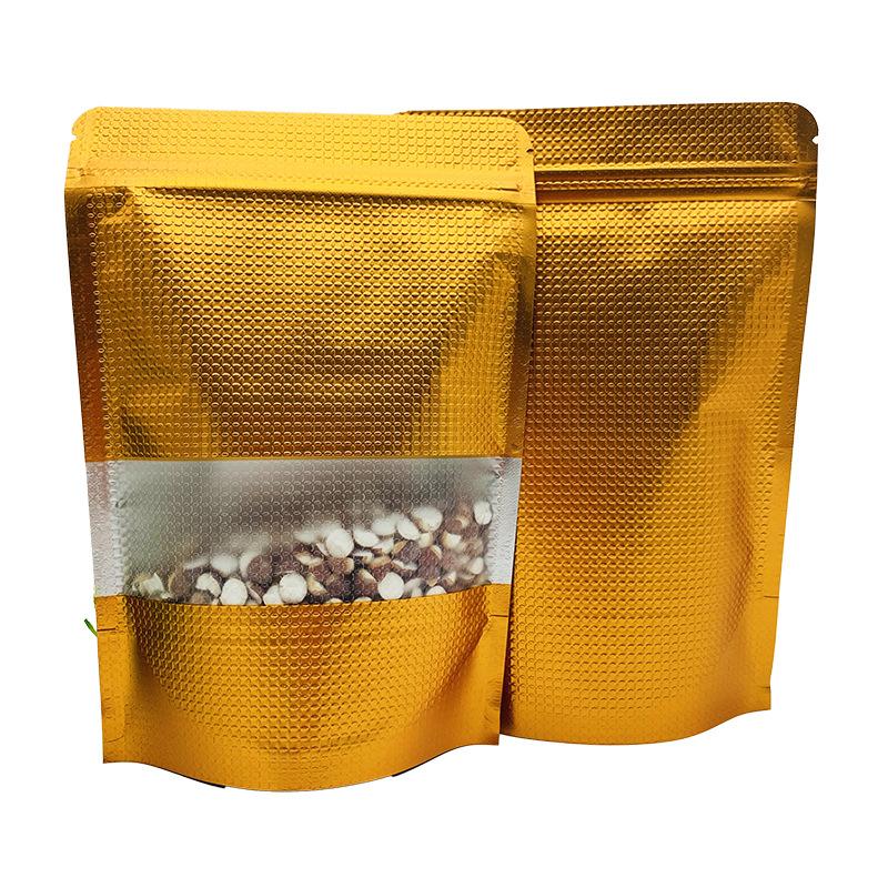 Bolsa de lámina bolsas de bolsas de termosellado stand up de calidad alimentaria bolsas aluminio zip lock