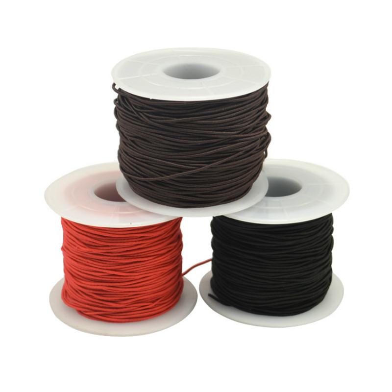 0.8mm 9m Nylon Elástico Color Abalorios Stretch Cable De Rosca Elección del Color