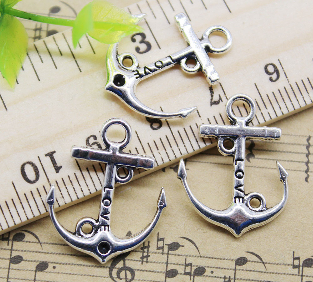 antique silver NEWME 40pcs Ballet Charms Pendant For DIY Jewelry Wholesale Crafting Bracelet and Necklace Making