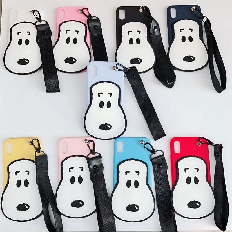 3D Cute Dog Rubber Case For iPhone 7 6 6S Plus 5s SE Soft Silicone Cartoon Cover Back For Apple iPhone X 8 7 6S 5S 10 Capa O18