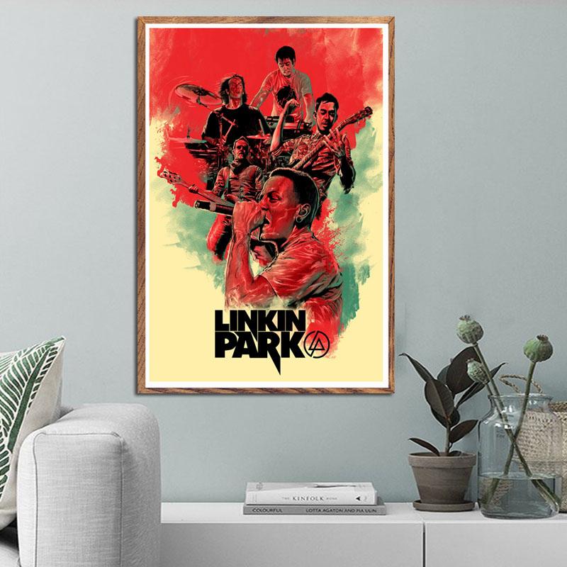 223 LINKIN Park ART Parete Tela Poster Stampa
