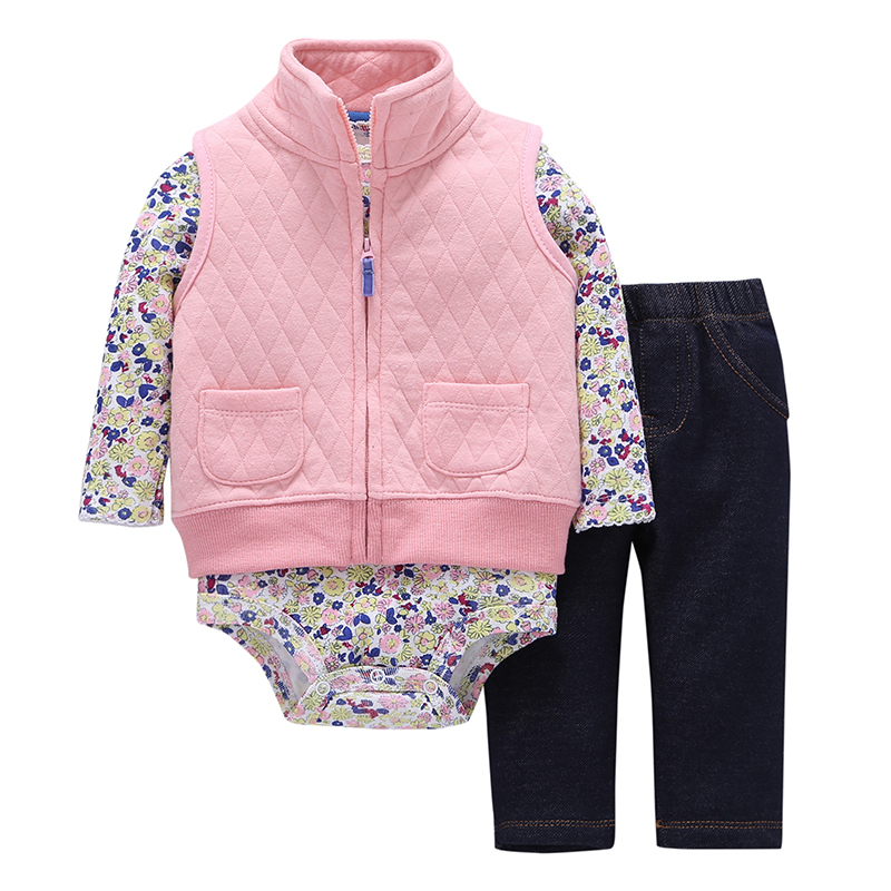 Autumn Winter Newborn Set,coat+pants+rompers Cotton,toddler Boy Girl Clothing Set,kids Bebes Outfit,infant Baby Clothing 2019 J190520