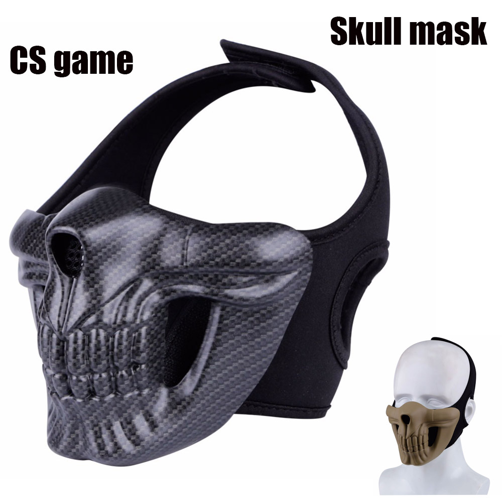 Wholesale Skull Half Face Paintball Mask Buy Cheap In Bulk From China Suppliers With Coupon Dhgate Com