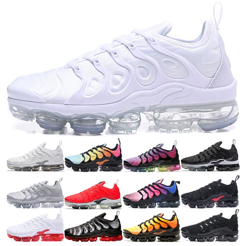 Acheter Nike Air Max Plus TN 2019 Sunset TN Chaussures De Course BE TRUE Cargo Khaki Zebra Red Shark Tooth Triple Noir Blanc Designer Sport Sneakers