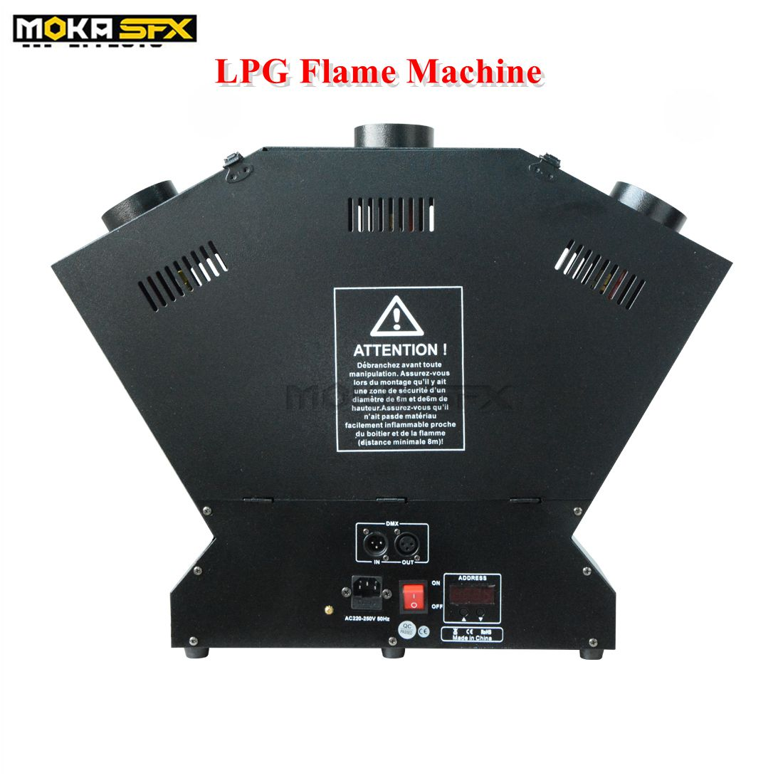 3-head LPG Flame Machine Strong Effect stage flame thrower DMX fire effect machine stage effects flame machine