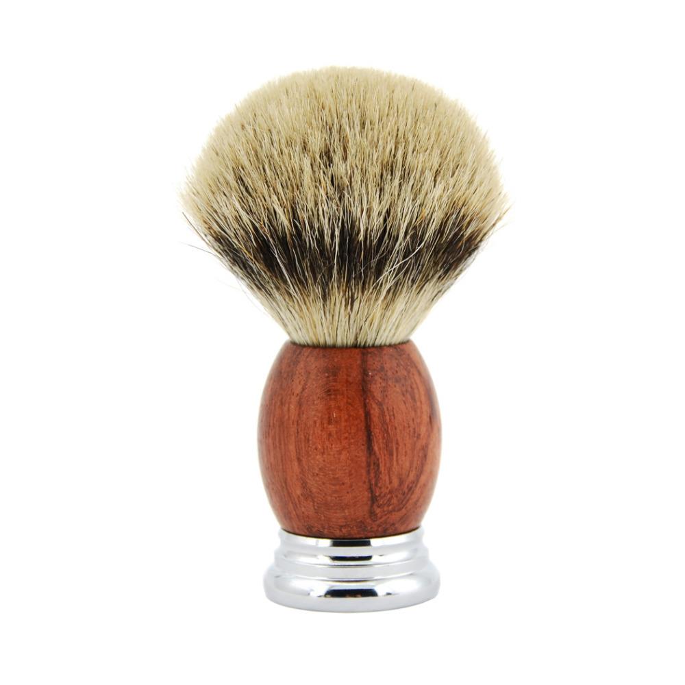 Grandslam Double Edge Safety Razor Shaving Set Men Badger Hair Shaving Brush Natural Wood Cream Bowl Mug With Shaving Soap Kit J190718