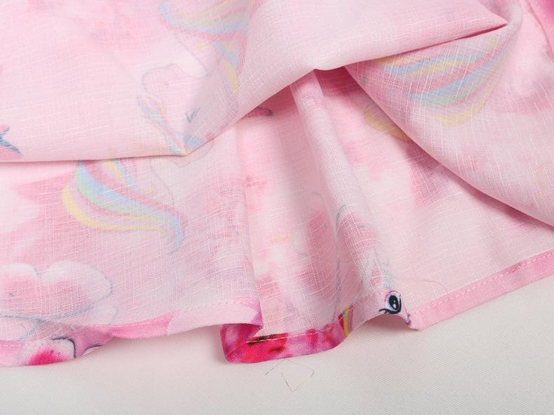Compre Nuevo Bebé Vestido Unicornio Para Niñas Traje Niños Fiesta Infantil Diadema Flamingo Ropa Princesa Vestidos Unicornio Vestido Máscara J190615 A