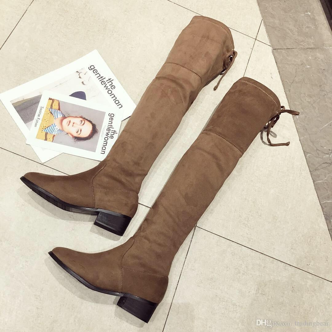 Charm2019 ViVi Lena Rabbit Hair Fur Lovely Over Knee High Boots Platform Wedges Heels Long Boots Black Grey