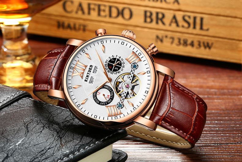 Precise Mechanical Automatic Mens Watch Flying Tourbillon Leather Waterpoof Business Watches Office Party Sport Daily Life Gift (10)
