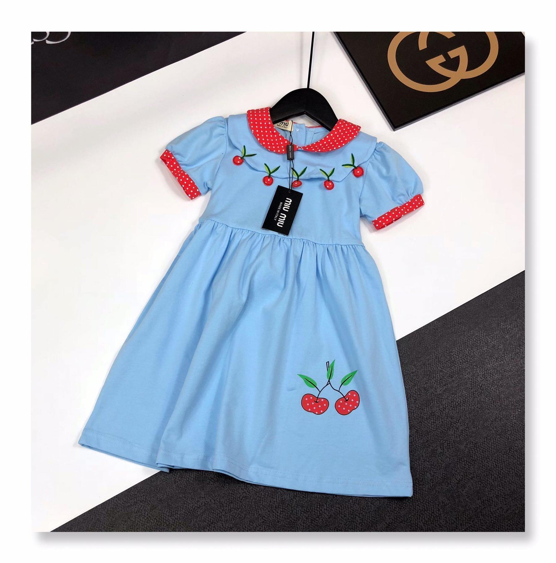 summer dresses kids brand clothes girls dress baby girl clothes kids dress Polka dot stitching cute Skirt girls boutique outfits baby PF-35