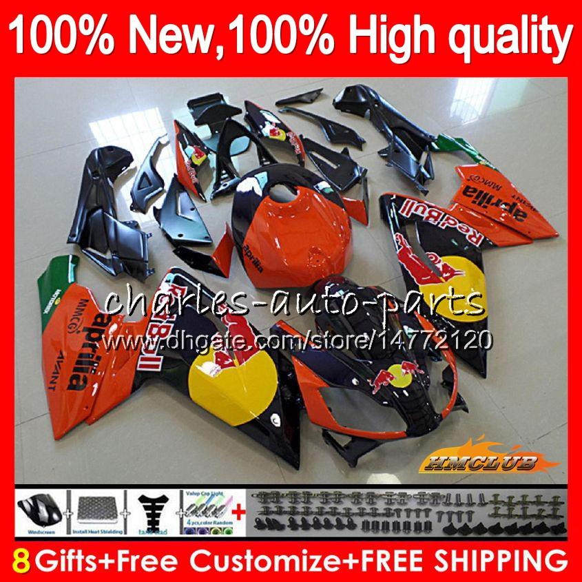 Injection For Aprilia RSV125R orange black RS-125 RS4 RS125 12 13 14 15 16 71HC.21 RS125R RSV125 RS 125 2012 2013 2014 2015 2016 OEM Fairing