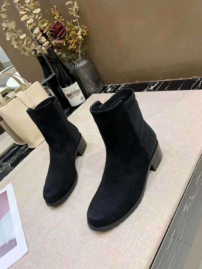 Womens Genuine Suede Leather Thick High Heel Lace-up Knee High Women Boots Ladies Comfortable Winter Warm Long Boots Shoes Sale