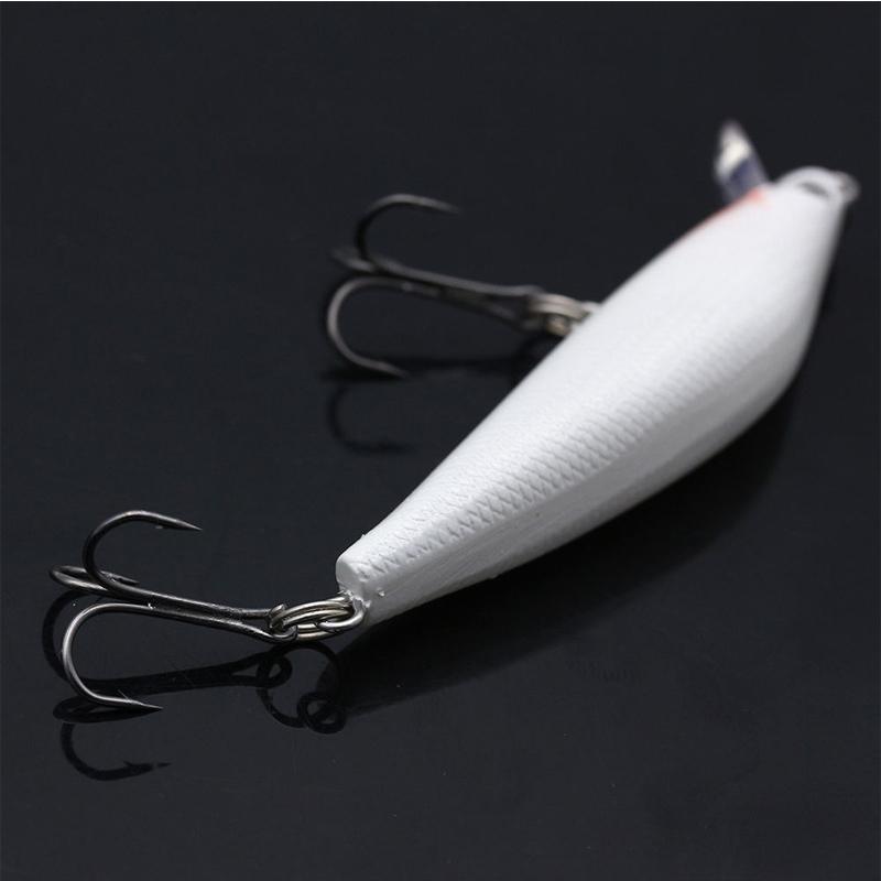 minnow night fishing lure bass crank bait hooks fish crankbait tackle plastic  X