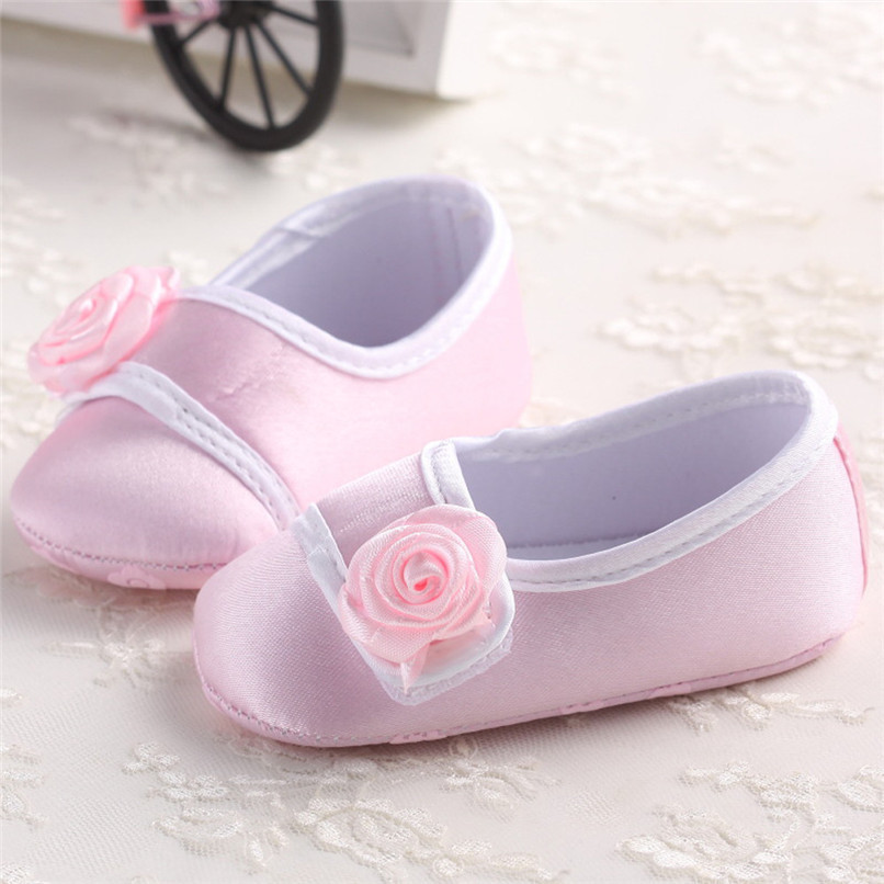 Baby Girls Shoes Fashion Newborn Infant Baby Girls Solid Flower Shoes Soft Sole Anti-slip Shoes Baby First Walker Shoes M8Y14 (7)