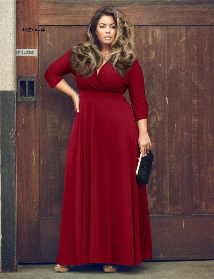 Da kod derinliği v temiz renk büyük sarkaç longuette yağ güzel kaş elbise