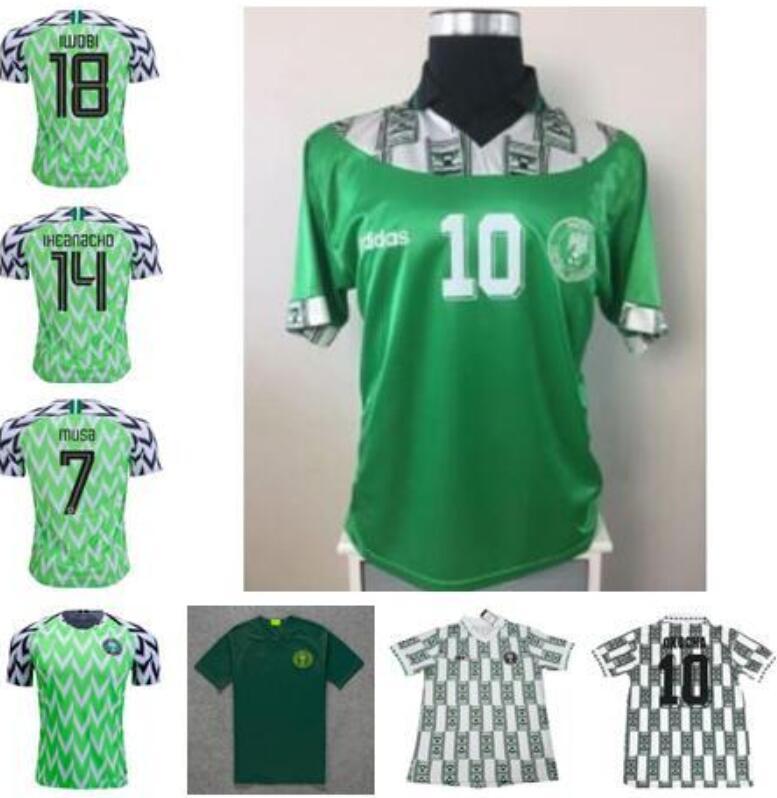 Retro OKOCHA 1994 Jersey Starboy Soccer Jerseys Okechukwu Dayo Ojo Osas Okoro Classic Short Sleeved Football calcio