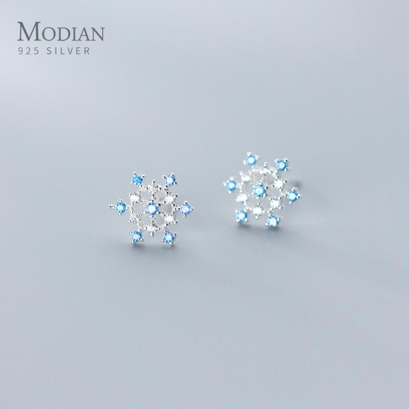 Exquisite Stud Earrings Luxury Charming Stud Earrings 925 Sterling Silver Clear Crystal Popular Girl Gift