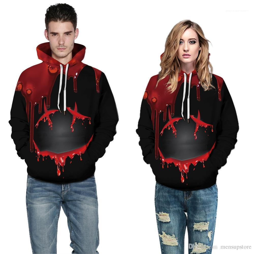Man Halloween 3D Printed Animal Zip Hoodies Creative Moon and Bat Mens Clothing Large Size 5XL