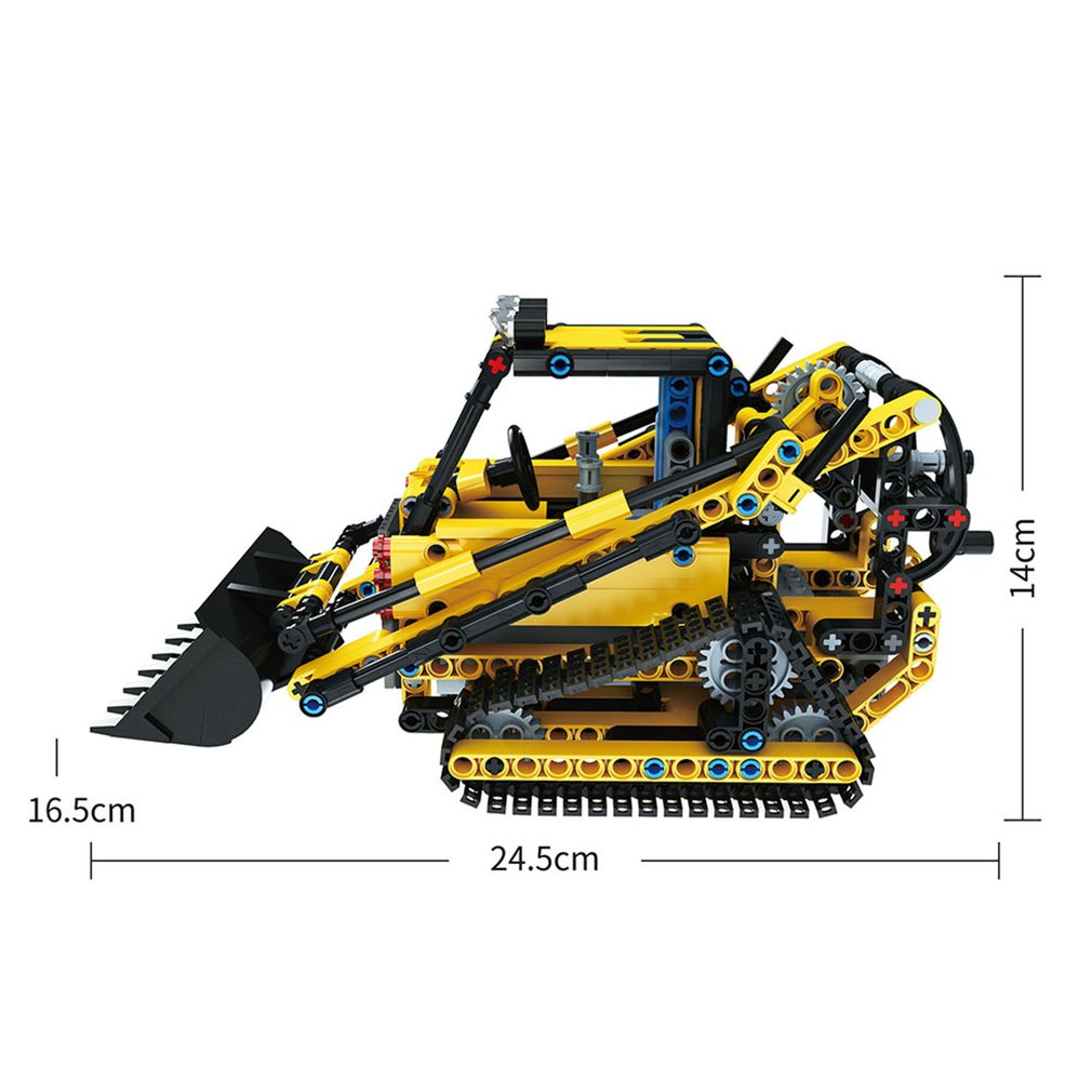 MoFun-13014 2.4G 4H USB Charging Building Block Simulated Crawler Loader DIY Electric RC Car Model For Children
