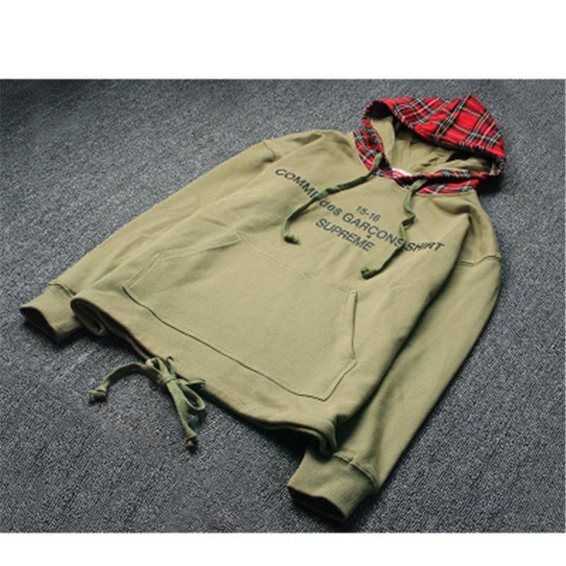 Mens Realistic 3D Print Green Blue Tartan Plaid Trendy Scottish Beauty Fashion Hooded Sweatshirt Hoodies Big Pockets
