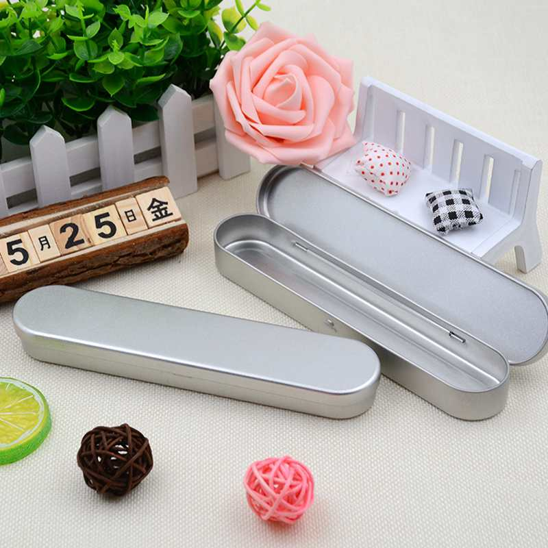 6pcs Iron Metal Portable Tin Boxes Container Pencil Pen Case Holder Storage Box