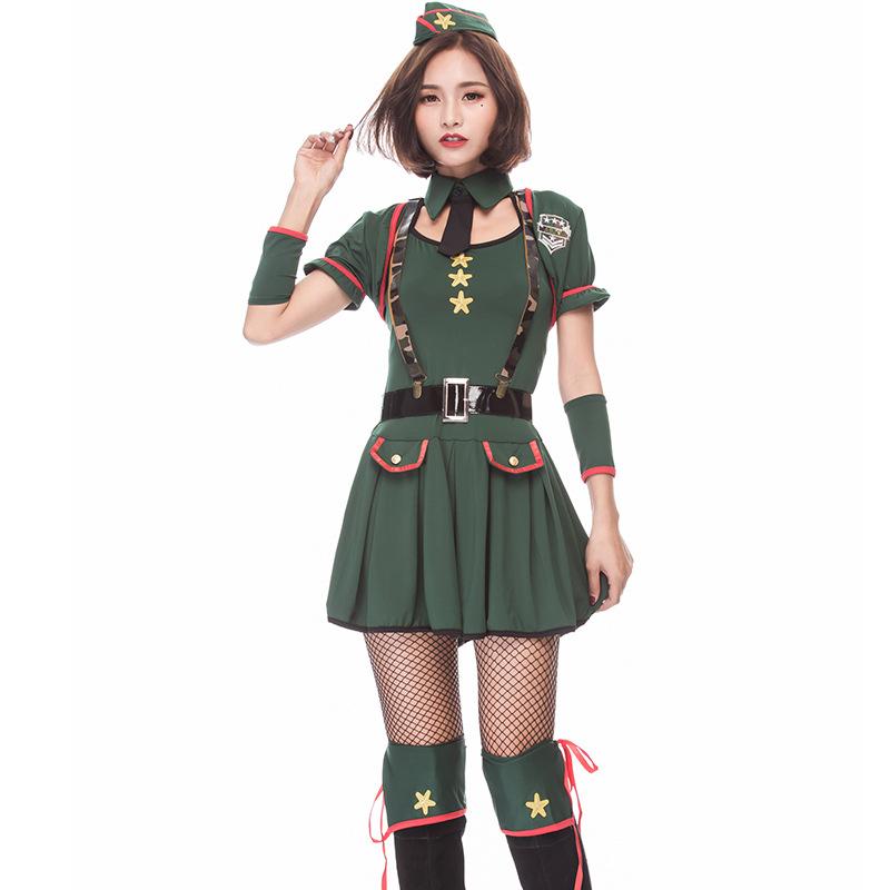 Kids Vert Armée commandant Costume Garçons Filles Parti militaire robe fantaisie