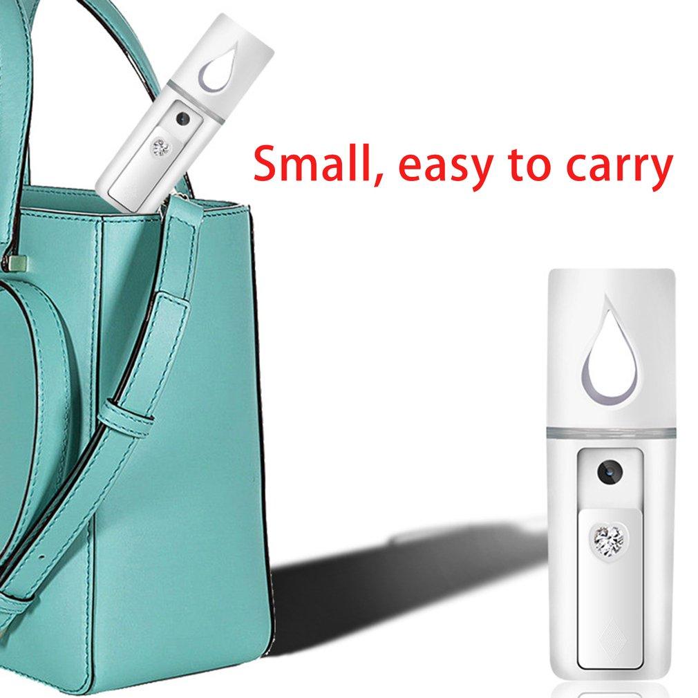 Portátil Mini Nano Névoa Pulverizador Facial Steamer Hidratante Ferramentas de Cuidados Com A Pele USB Charing Face Pulverização Fria SPA Dispositivo de Beleza