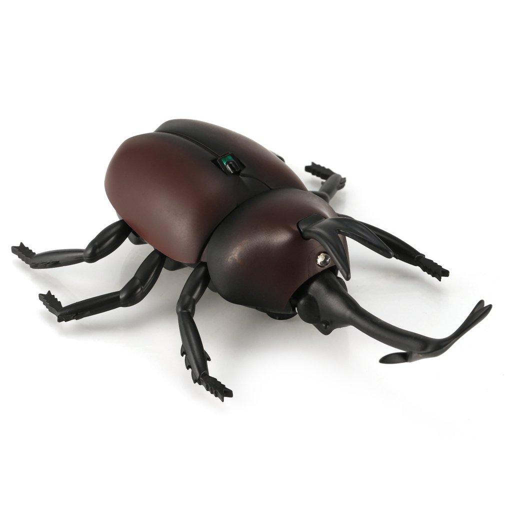 Control Remoto por Infrarrojos Moke Realista Escarabajo Falso RC Broma Insectos de insectos para Broma Scary Truco Juguete Fiesta de Regalo Sorpresa