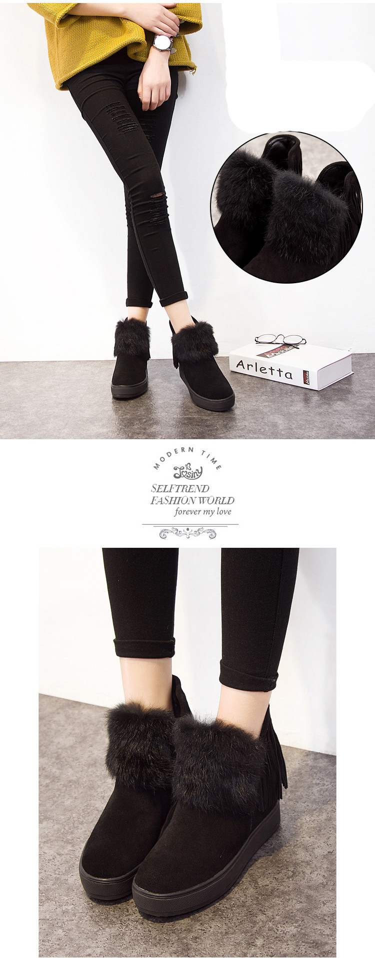 Plus Boots Bottom Well Female Shoes Done Boots Boots Velvet Rabbit S55563 19 Short Tube Ankle Boot From Snow ening Tassel Thick High Heel Fur uTOPkiXZ